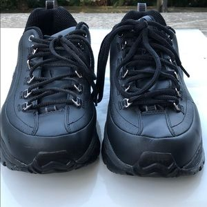 SKECHERS PREMIUM BLACK LEATHERS SNEAKERS Size 11